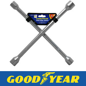 Goodyear Professional Fixed Cross Wheel Wrench 17 / 19/ 21 / 23mm Car Truck Van