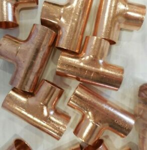 """Pack of 37 Copper Tee 3/4"""" x 3/4 x 3/4 Copper Tee CTF 9098400 Nibco 611 Series"""