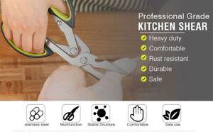 Kitchen Scissors Shears Stainless Steel Heavy Duty Meat Chicken Sharp Scissors