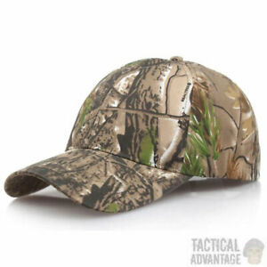 Real Tree Camouflage Baseball Cap Hunting Hat Army Airsoft Oak Leaf Head Cover