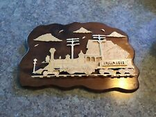 Baltimore & Ohio Railroad all Wood 3D Old Fashioned Wall Hanging,  USA Made