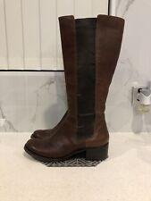 SHUBAR Designer Ladies Leather Boots, Chestnut, Size 40 - 9/10