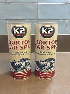2 x K2 DOKTOR CAR SPEC Engine Treatment Improve Compression Oil Additive - 443ml