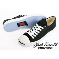 Converse Jack Purcell Sz.9.5 Black Sneakers Classic Chill Mod Punk Cons Low Cut