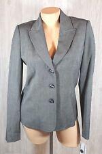 Atelier Womens Blazer Jacket Size 6 Black with White Thread Lined New Work