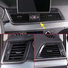 3x Carbon Fiber Interior Dashboard Air Vent Cover Trim For Audi Q5 SQ5 2018-2020