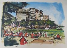"Al Stine 1920-2013 (Play Boy Artist) painting. ""Playa Caleta Hotel"" Cuba"