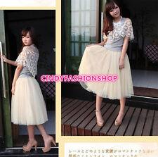 USA Women Girl Stylish 5 Layers Tutu Skirt Petticoat Knee-Length  Dress 75cm USA