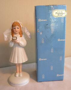 Romain Inclus 1990 My Premier Communion Debout Girl Céramique Figurine #45729 IN