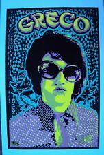 Vintage Vans Skateboarding Poster Jim Greco, Black Light with Felt