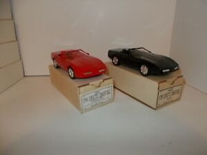 ERTL 1989 and 1990 Chevy Corvette Convertible Dealer Promo Cars - 2 Cars New
