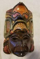 Vintage Hand Carved Wooden Mask Made in El Salvador (Pre-Owned)