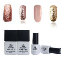 5/10ml Rose Gold Glitter LED UV Gel Nail Polish Soak off Varnish DIY BORN PRETTY
