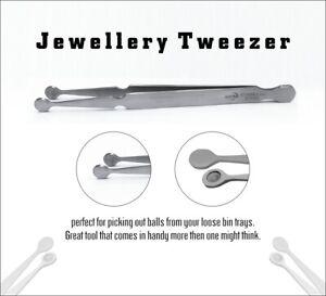 Bead Pearl Holding Tweezers Jewelry Making Captive Beads Ball Grabber Piercing