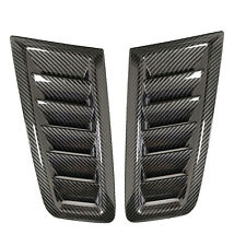 Universal For Ford Focus RS ST MK2 style Bonnet Air Vent Hood Trim Carbon Fiber