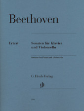 Henle Urtext Beethoven Sonatas for Piano and Violoncello