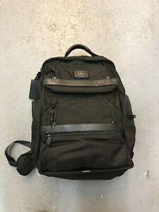 Tumi Alpha 2 T-Pass Business Class Brief BackPack, Black, Incl. Leather Bag Tag