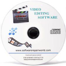 Software de edición de vídeo grabar disco de fusión de rotar mezcla de corte de ajuste
