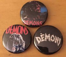 """DEMONS lot of 3 1"""" pins pinback buttons horror movie Halloween night of the"""