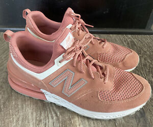 NEW BALANCE 574 MS574STP PINK Peach SUEDE US 11 Shoes Sneakers