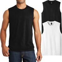 Young Mens Sleeveless T-Shirt Muscle Tank Shooter Cotton Tee XS-XL, 2X, 3X, 4X
