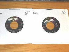 LOT of 5 ROCK&ROLL 45 RPMs - FATS DOMINO - IMPERIAL 5407 5723 5753 5863 5875