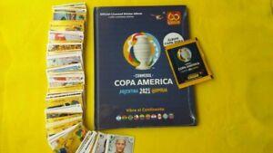 PANINI HARDCOVER ALBUM COPA AMERICA 2021 +  LOOSE STICKERS + PACKET - TOURNAMENT