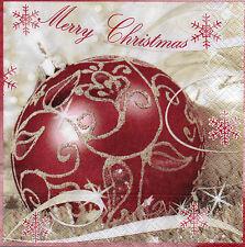 4 Motivservietten Servietten Napkins Weihnachten Kugel Weihnachtskugel (950)