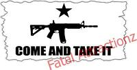 Come and Take It Flag Vinyl Decal Sticker USA patriot ar15 2nd ammendment gun