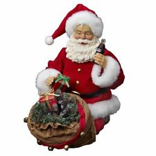 Santa with a bag of Presents & Coca-Cola bottles 2014 Kurt Adler figure NIB NLA