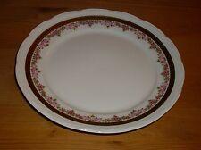 Mitterteich  Bavaria  1 Kuchenteller, rosa Blütendekor, dicker Goldrand m. Dekor