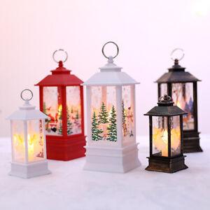 Christmas LED Light Up Lantern Santa Claus Table Lamp Ornament Decoration UK