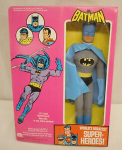 "Vintage Mego 12.5"" Batman WGSH Figure English French Box 4016 1976"