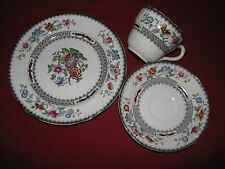 multi transferware cup saucer plate Copeland Spode Chinese Rose Demitasse