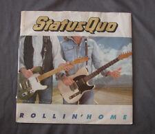"""Vinilo SG 7"""" 45 rpm STATUS QUO - ROLLIN' HOME"""