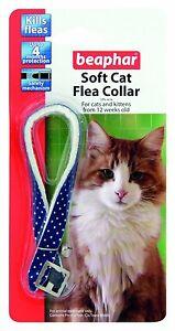 Beaphar sparkle soft cat kitten flea collar -various colours.