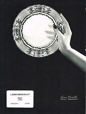 PUBLICITE ADVERTISING  1964  BERNARDEAU  porcelaines série POLIGNAC