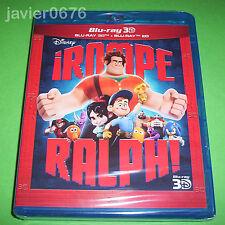 ROMPE RALPH CLASICO DISNEY 54 BLU-RAY 3D + 2D NUEVO Y PRECINTADO