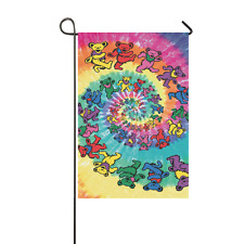 New Popular Custom Grateful Dead Weatherproof Decor Garden Flag 12x18 inch