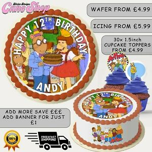 ARTHUR KIDS TV SHOW THEMED PERSONALISED EDIBLE BIRTHDAY CAKE CUPCAKE TOPPERS