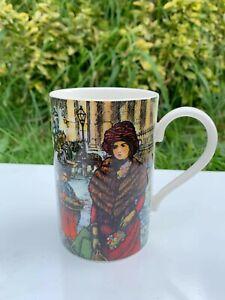 Harrods Knightsbridge Fine Stoneware Old Times Vintage Retro Style Mug Cup