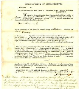 1819 Early Am-Doc>TO JONATHON BILLOCK FOR LARCENY SOLITARY 10 DAYS THEN 3 YEARS!