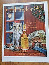 1961 Old Taylor 86 Whiskey Ad Christmas Theme