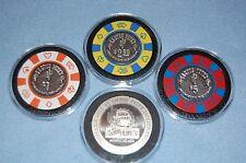 RARE VINTAGE 4 Cactus Pete's Jackpot Nevada Poker Chips