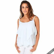Taillenlang Damenblusen,-Tops & -Shirts im Trägertops-Stil mit Träger für Freizeit