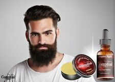 COMPTON PREMIUM BEARD BALM & OIL SET (COMPTON NIGHT) ALL NATURAL MELBOURNE MADE