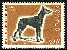 Monaco 759, MNH. Dog Show. Doberman Pincher, 1970