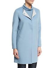 2018 Armani Cashmere Wool Coat Jacket Double Face Blue  Size 8  $1495 NEW