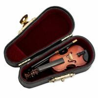 Miniature Violin With Case Music Instrument Gift Collection Brand New Small Tiny