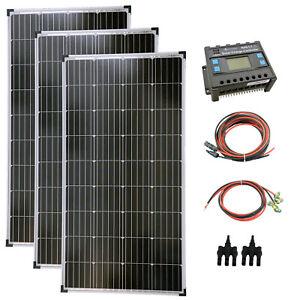 Komplettset 3x140 Watt Solarmodul Laderegler Photovoltaik Inselanlage PV